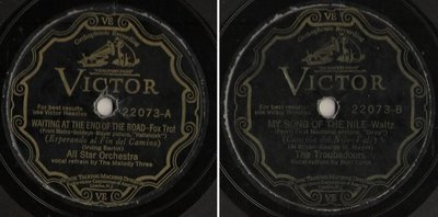 All Star Orchestra / Waiting At the End of the Road (1929) / Victor 22073 (Single, 10