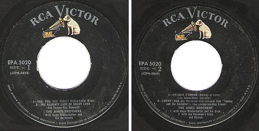 "Ames Brothers, The / You, You, You + 3 (1958) / RCA Victor EPA-5020 (EP, 7"" Vinyl)"