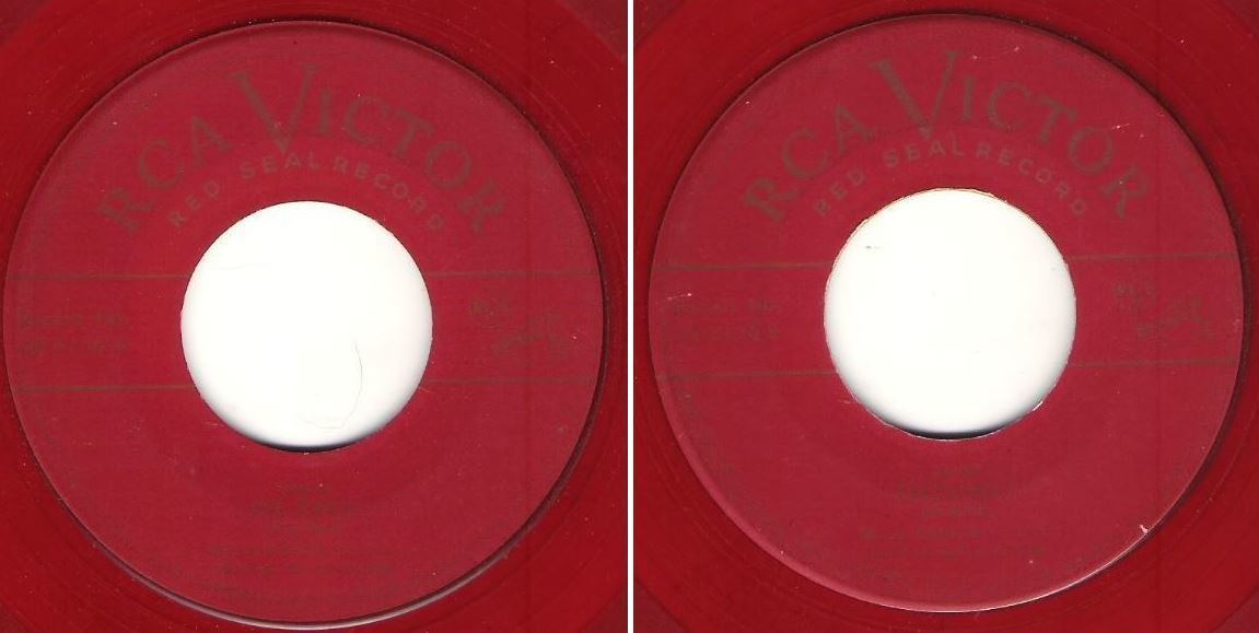"Anderson, Marian / Ave Maria (Hail, Mary) (1952) / RCA Victor (Red Seal) 49-0136 (Single, 7"" Red Vinyl)"