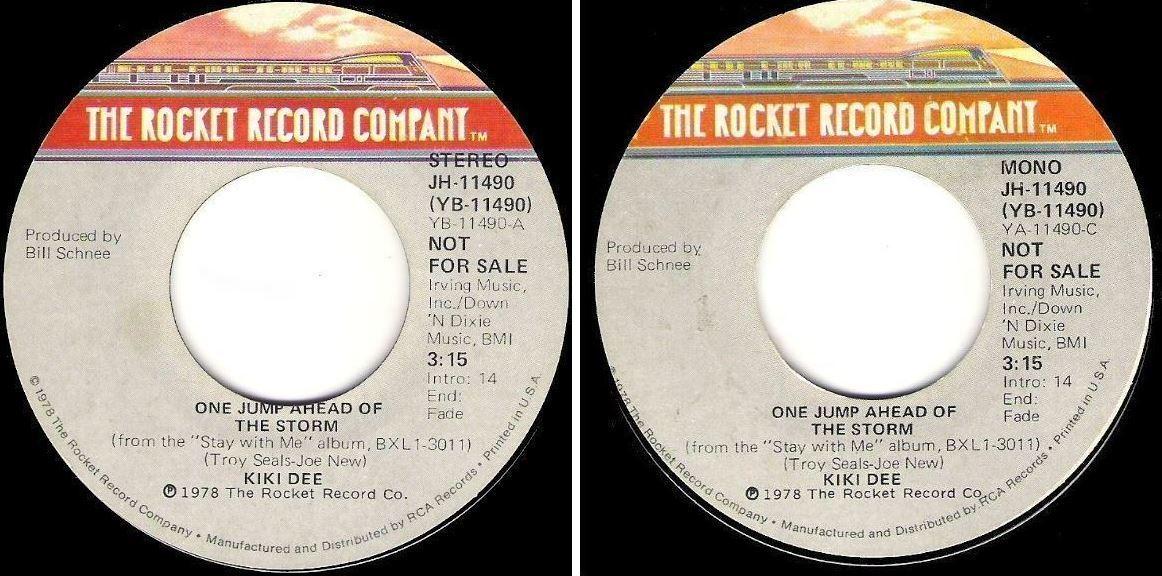 "Dee, Kiki / One Jump Ahead of the Storm (1978) / Rocket JH-11490 (Single, 7"" Vinyl) / Promo"