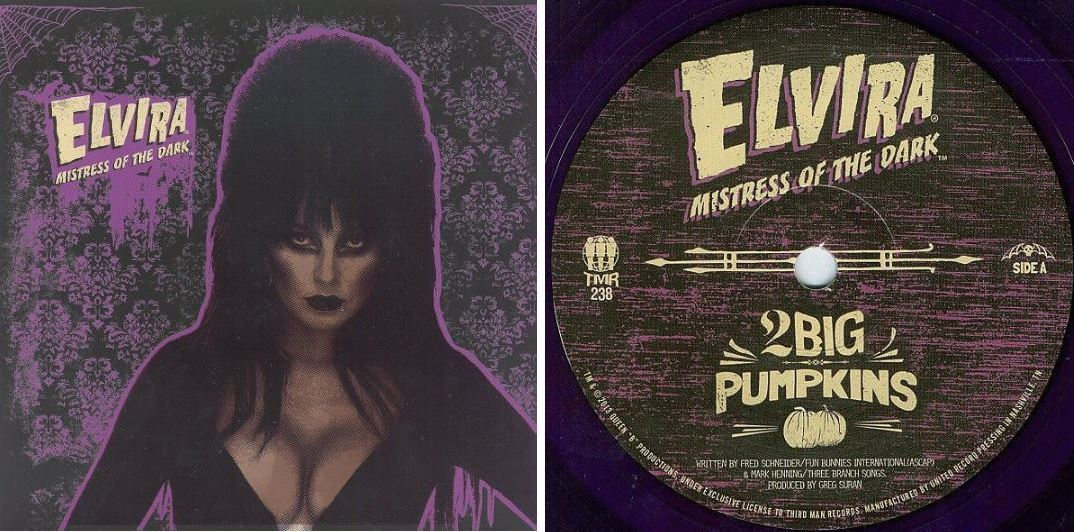 "Elvira / 2 Big Pumpkins (2014) / Third Man TMR-238 (Single, 7"" Purple Vinyl)"