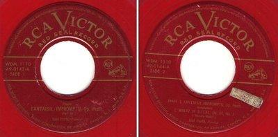Iturbi, Jose / Fantasie - Impromptu, Op. Posth. (1952) / RCA Victor (Red Seal) 49-0143 and 49-0144 (2 Single Set, 7