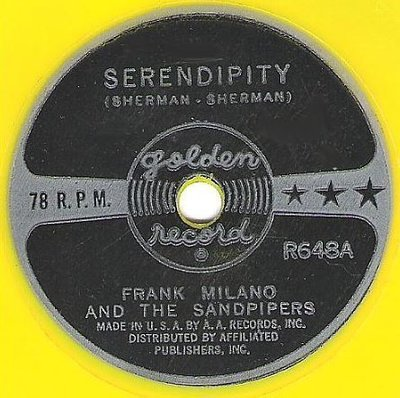 Milano, Frank (+ The Sandpipers) / Serendipity / Golden Records R648 (Single, 6