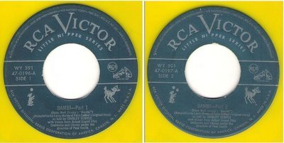 Temple, Shirley / Bambi (1949) / RCA Victor 47-0196 and 47-0197 (Single 7