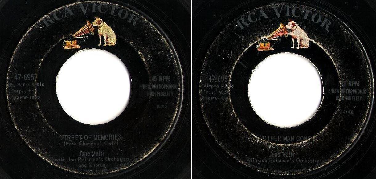 "Valli, June / Street of Memories (1957) / RCA Victor 47-6957 (Single, 7"" Vinyl)"