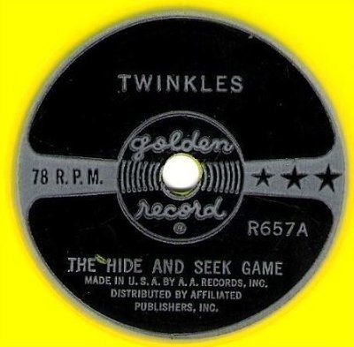 Twinkles / The Hide and Seek Game (1960) / Golden R-657 (Single, 6