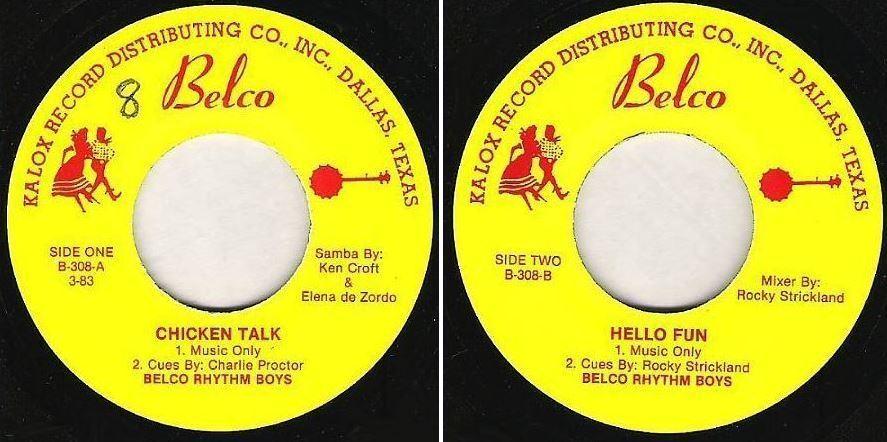"Belco Rhythm Boys / Chicken Talk / Belco B-308 (EP, 7"" Vinyl)"