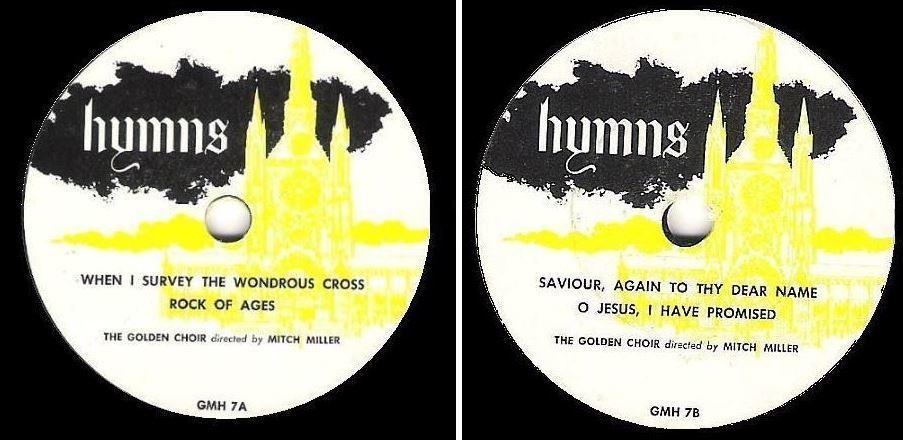 """Golden Choir, The (+ Mitch Miller) / Hymns / Golden GMH-7 and 8 (EP, 7"""" Vinyl)"""