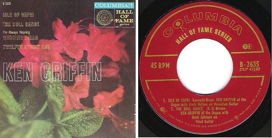 "Griffin, Ken / Anniversary Songs (1957) / Columbia B-2635 (EP, 7"" Vinyl)"
