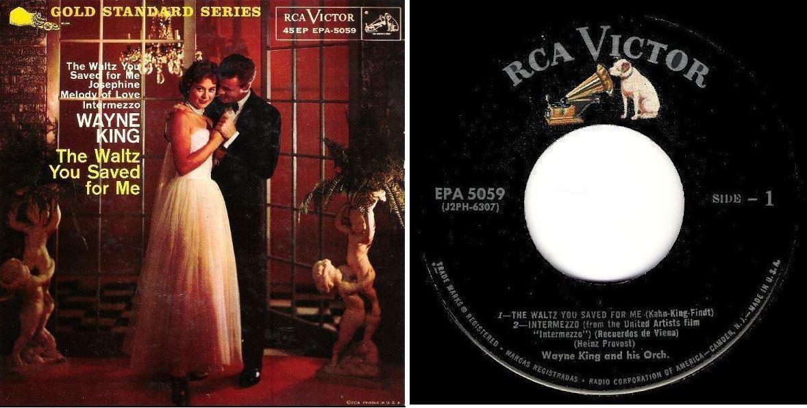 """King, Wayne / The Waltz You Saved For Me (1958) / RCA Victor EPA-5059 (EP, 7"""" Vinyl)"""