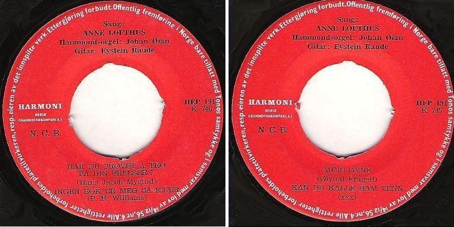 "Lofthus, Anne / Har Du Provet a Tro Pa Din Frelser? + 3 / Harmoni HEP-191 (EP, 7"" Vinyl) / Norway"