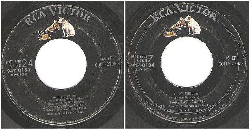 """Miller, Glenn / So Little Time + 3 / RCA Victor 947-0184 (EP, 7"""" Vinyl)"""