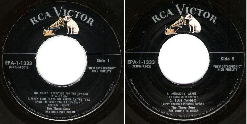 "Three Suns, The / Midnight For Two - Volume 1 (1957) / RCA Victor EPA-1-1333 (EP, 7"" Vinyl)"