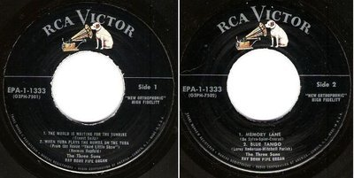Three Suns, The / Midnight For Two - Volume 1 (1957) / RCA Victor EPA-1-1333 (EP, 7