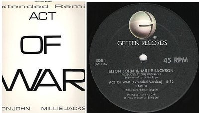 John, Elton (+ Millie Jackson) / Act of War (Extended Version) Part 3 (1985) / Geffen 0-20347 (Single, 12
