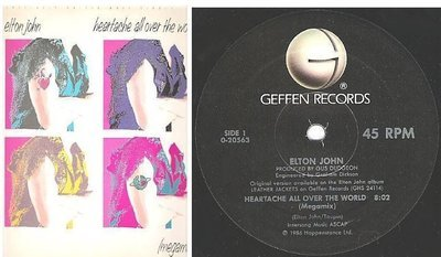 John, Elton / Heartache All Over the World (Megamix) (1986) / Geffen 0-20563 (Single, 12
