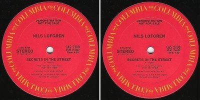 Lofgren, Nils / Secrets In the Street (1985) / Columbia CAS-2100 (Single, 12