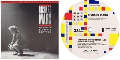 Marx, Richard / Should've Known Better (1987) / Manhattan SPRO-79099 (Single, 12