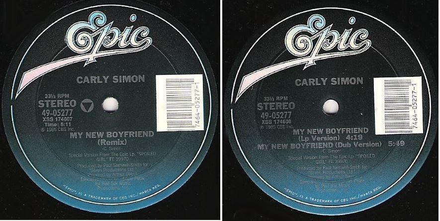 "Simon, Carly / My New Boyfriend (Remix) (1985) / Epic 49-05277 (Single, 12"" Vinyl)"