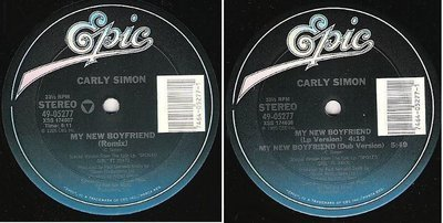 Simon, Carly / My New Boyfriend (Remix) (1985) / Epic 49-05277 (Single, 12