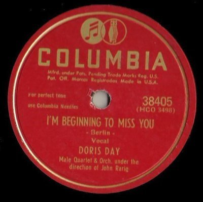Day, Doris / I'm Beginning to Miss You (1949) / Columbia 38405 (Single, 10