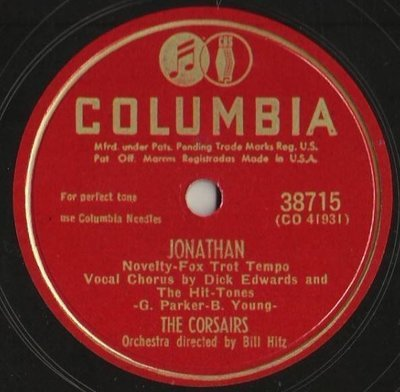 Corsairs, The / Jonathan (1949) / Columbia 38715 (Single, 10