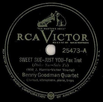 Goodman, Benny (Quartet) / Sweet Sue - Just You (1936) / RCA Victor 25473 (Single, 10
