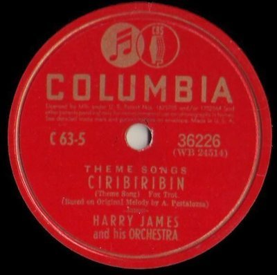 James, Harry / Ciribiribin (1941) / Columbia 36226 (Single, 10