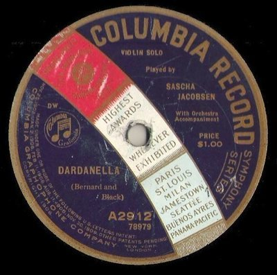 Jacobsen, Sascha / Dardanella (1920) / Columbia A-2912 (Single, 10