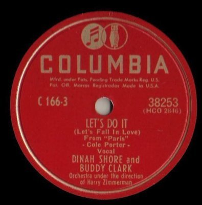 Shore, Dinah (+ Buddy Clark) / Let's Do It (1948) / Columbia 38253 (Single, 10