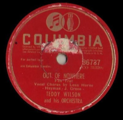 Wilson, Teddy / Out of Nowhere (1944) / Columbia 36737 (Single, 10