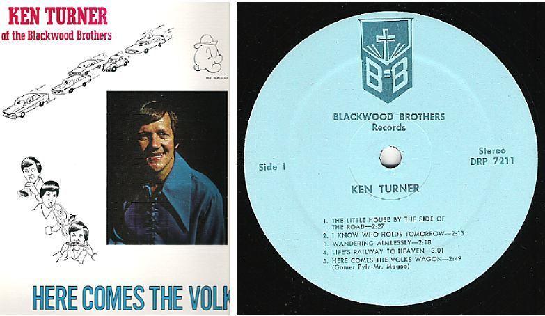 """Turner, Ken / Here Comes the Volkswagen (1972) / Blackwood Brothers DRP-7211 (Album, 12"""" Vinyl)"""