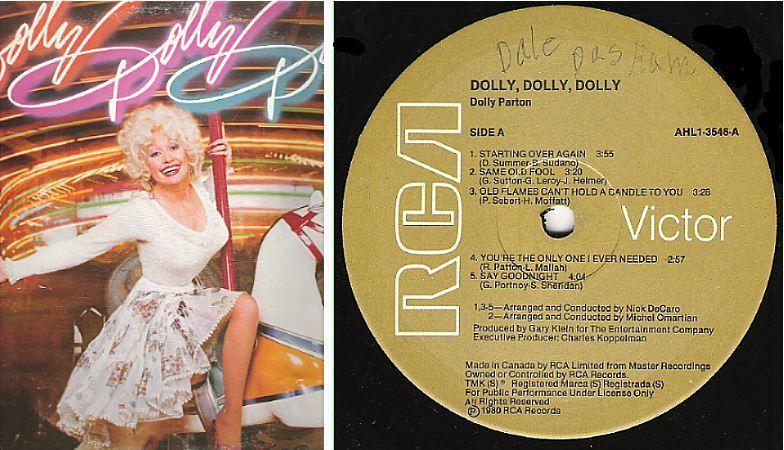 "Parton, Dolly / Dolly Dolly Dolly (1980) / RCA Victor AHL1-3546 (Album, 12"" Vinyl) / Canada"