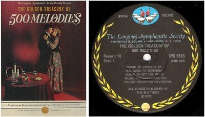 Longines Symphonette / The Golden Treasury of 500 Melodies (1972) / Longines LS-226A (Album, 12