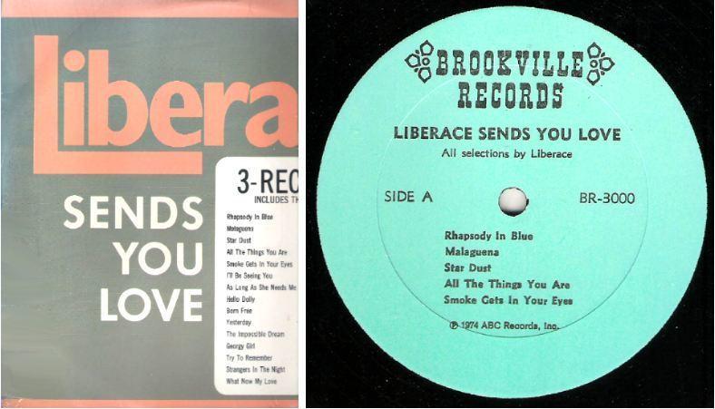 "Liberace / Liberace Sends You Love (1974) / Brookville BR-3000 (Album, 12"" Vinyl) / 3 LP Set"