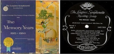 Longines Symphonette / The Memory Years 1925-1960 (1964) / Longines LWS-118--123 (Album, 12