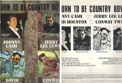 Various Artists / Born To Be Country Boys (1965) / Pickwick JS-6104 (Album Cover)