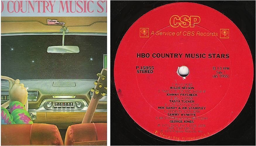 """Various Artists / HBO Country Music Stars (1981) / Columbia Special Products P-15955 (Album, 12"""" Vinyl)"""