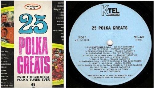 "Various Artists / 25 Polka Greats (1971) / K-Tel International NC-420 (Album, 12"" Vinyl)"