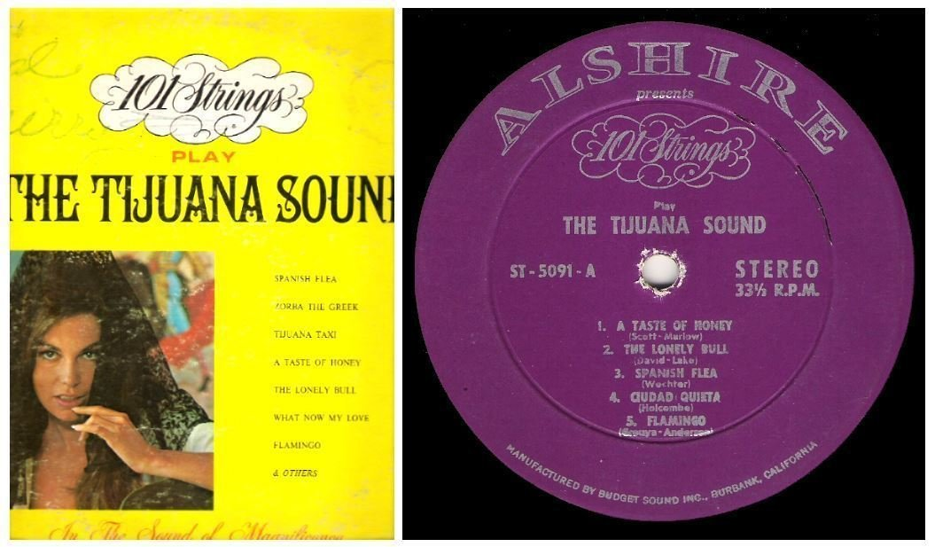 "101 Strings / The Tijuana Sound (1967) / Alshire ST-5091 (Album, 12"" Vinyl)"