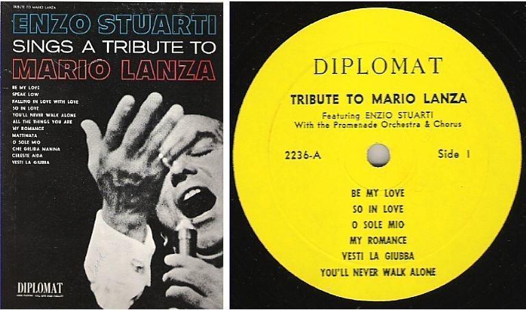 "Stuarti, Enzo / Tribute to Mario Lanza (1960's) / Diplomat 2236 (Album, 12"" Vinyl)"