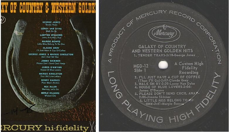 """Various Artists / Galaxy of Country and Western Golden Hits (1961) / Mercury MGD-12 (Album, 12"""" Vinyl)"""