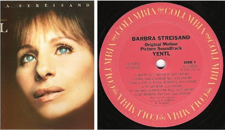 "Streisand, Barbra / Yentl - Soundtrack (1983) / Columbia JS-39152 (Album, 12"" Vinyl)"