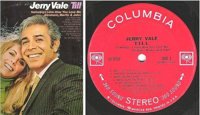 "Vale, Jerry / Till (1969) / Columbia CS-9757 (Album, 12"" Vinyl)"
