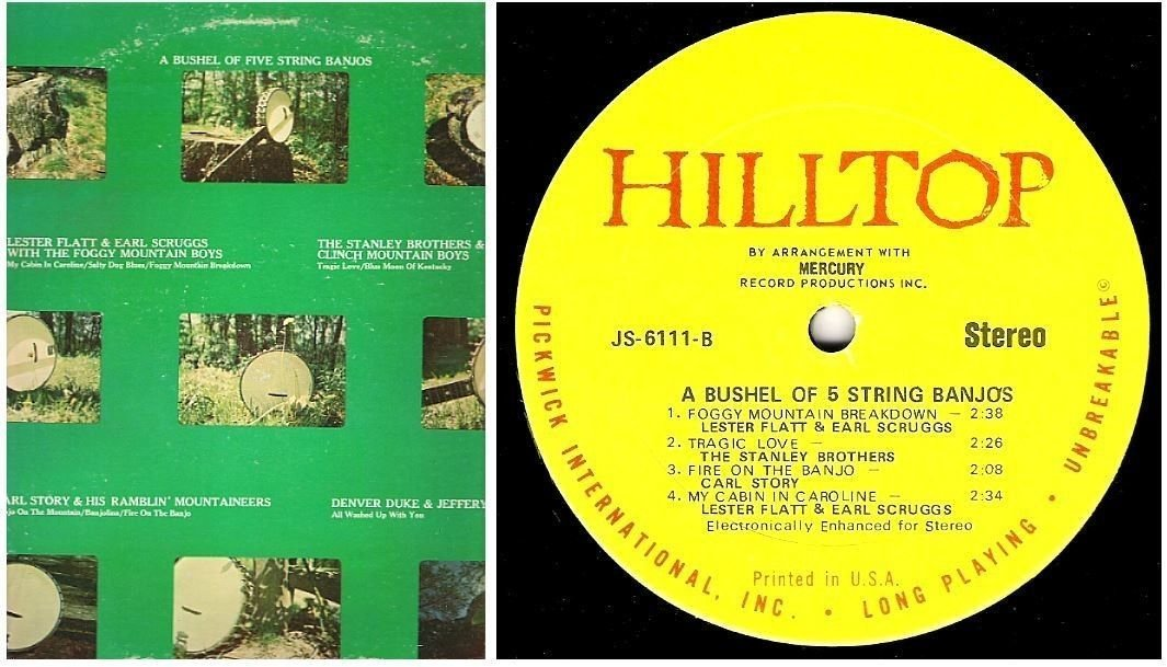 """Various Artists / A Bushel of Five String Banjos / Hilltop JS-6111 (Album, 12"""" Vinyl)"""