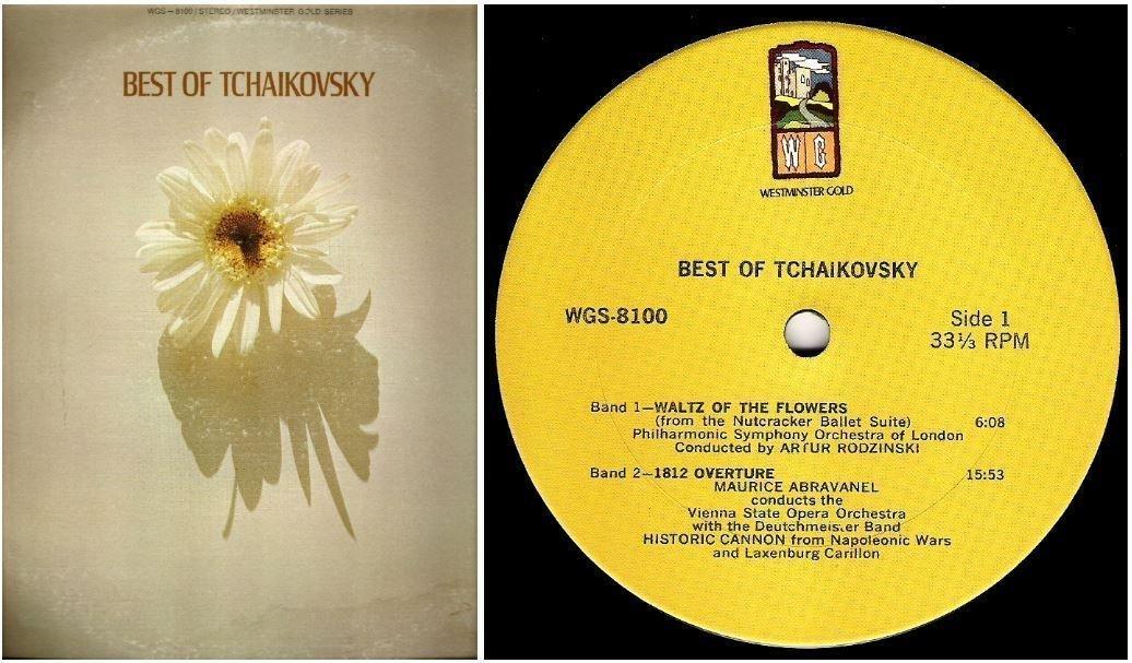 "Various Artists / Best of Tchaikovsky (1970) / Westminster Gold WGS-8100 (Album, 12"" Vinyl)"
