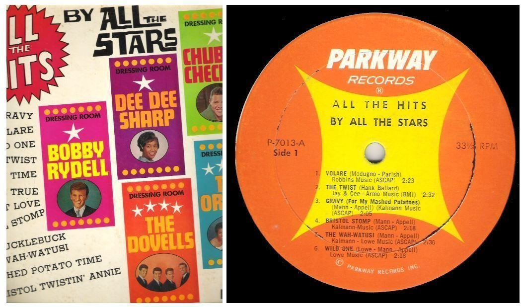 "Various Artists / All the Hits By All the Stars (1962) / Parkway P-7013 (Album, 12"" Vinyl)"