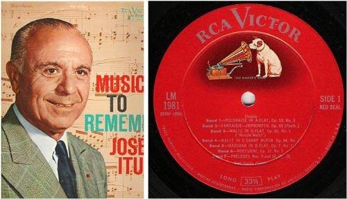 "Iturbi, Jose / Music To Remember (1956) / RCA Victor Red Seal LM-1981 (Album, 12"" Vinyl)"
