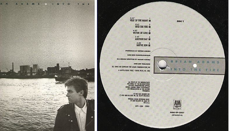 "Adams, Bryan / Into the Fire (1987) / A+M SP-3907 (Album, 12"" Vinyl)"