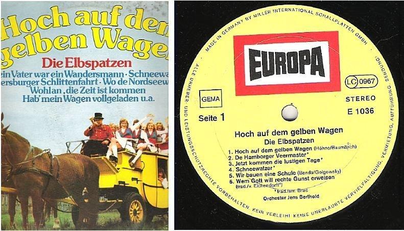 """Elbspatzen, Die / Hoch Auf Dem Gelben Wagen (1974) / Europa E-1036 (Album, 12"""" Vinyl) / Germany"""